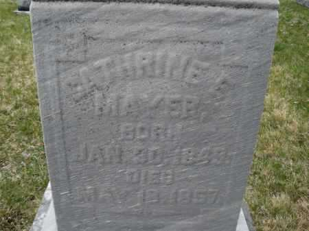 MAYER, CATHRINE E. - Montgomery County, Ohio | CATHRINE E. MAYER - Ohio Gravestone Photos