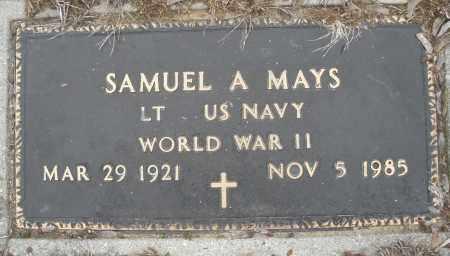 MAYS, SAMUEL A. - Montgomery County, Ohio | SAMUEL A. MAYS - Ohio Gravestone Photos