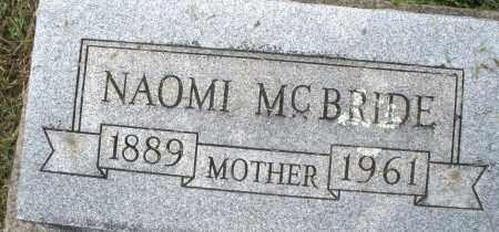 MCBRIDE, NAOMI - Montgomery County, Ohio | NAOMI MCBRIDE - Ohio Gravestone Photos