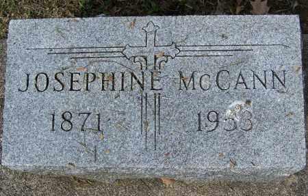 MCCANN, JOSEPHINE - Montgomery County, Ohio | JOSEPHINE MCCANN - Ohio Gravestone Photos