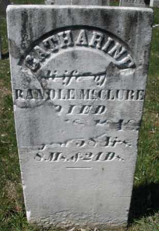 MCCLURE, CATHARINE - Montgomery County, Ohio   CATHARINE MCCLURE - Ohio Gravestone Photos