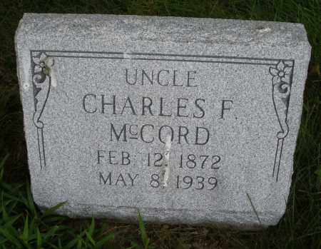 MCCORD, CHARLES F. - Montgomery County, Ohio | CHARLES F. MCCORD - Ohio Gravestone Photos