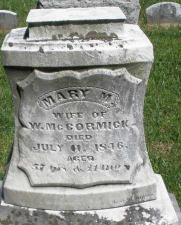MCCORMICK, MARY M. - Montgomery County, Ohio | MARY M. MCCORMICK - Ohio Gravestone Photos