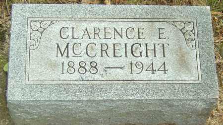 MCCREIGHT, CLARENCE E - Montgomery County, Ohio | CLARENCE E MCCREIGHT - Ohio Gravestone Photos