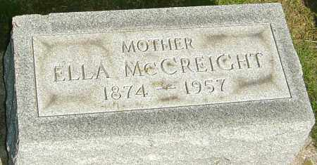 LOWERY MCCREIGHT, ELLA ELVIRA - Montgomery County, Ohio | ELLA ELVIRA LOWERY MCCREIGHT - Ohio Gravestone Photos