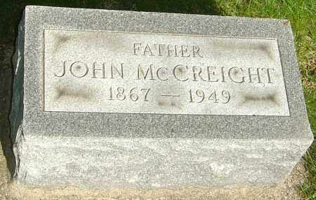MCCREIGHT, JOHN WILLIAM - Montgomery County, Ohio | JOHN WILLIAM MCCREIGHT - Ohio Gravestone Photos