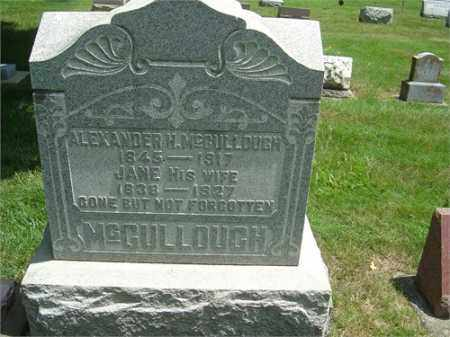 MCCULLOUGH, JANE - Montgomery County, Ohio | JANE MCCULLOUGH - Ohio Gravestone Photos