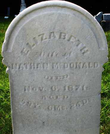 MCDONALD, ELIZABETH - Montgomery County, Ohio | ELIZABETH MCDONALD - Ohio Gravestone Photos
