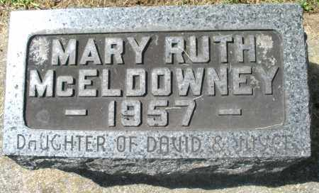 MCELDOWNEY, MARY RUTH - Montgomery County, Ohio | MARY RUTH MCELDOWNEY - Ohio Gravestone Photos