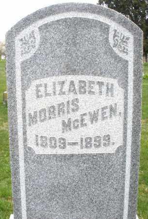MORRIS MCEWEN, ELIZABETH - Montgomery County, Ohio | ELIZABETH MORRIS MCEWEN - Ohio Gravestone Photos