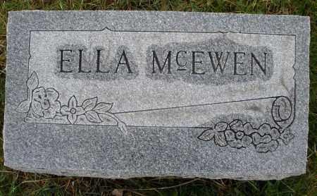 MCEWEN, ELLA - Montgomery County, Ohio | ELLA MCEWEN - Ohio Gravestone Photos