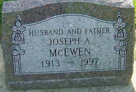 MCEWEN, JOSEPH A - Montgomery County, Ohio | JOSEPH A MCEWEN - Ohio Gravestone Photos