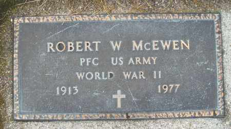 MCEWEN, ROBERT  W. - Montgomery County, Ohio | ROBERT  W. MCEWEN - Ohio Gravestone Photos