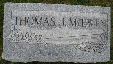 MCEWEN, THOMAS J. - Montgomery County, Ohio | THOMAS J. MCEWEN - Ohio Gravestone Photos
