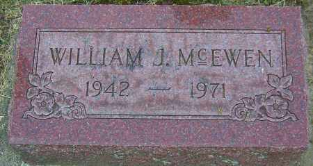 MCEWEN, WILLIAM J - Montgomery County, Ohio | WILLIAM J MCEWEN - Ohio Gravestone Photos
