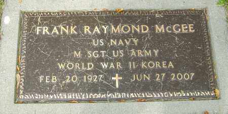 MCGEE, FRANK RAYMOND - Montgomery County, Ohio | FRANK RAYMOND MCGEE - Ohio Gravestone Photos