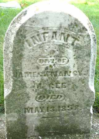 MCGEE, INFANT DAUGHTER - Montgomery County, Ohio | INFANT DAUGHTER MCGEE - Ohio Gravestone Photos
