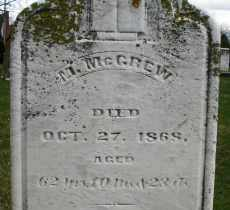 MCGREW, M. - Montgomery County, Ohio | M. MCGREW - Ohio Gravestone Photos
