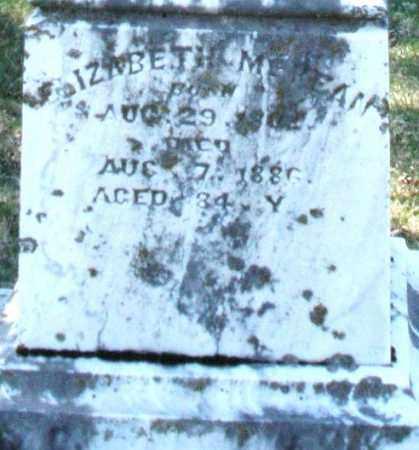 MCKEAN, ELIZABETH - Montgomery County, Ohio | ELIZABETH MCKEAN - Ohio Gravestone Photos