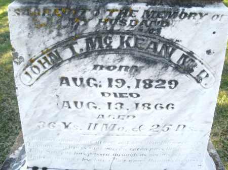 MCKEAN, JOHN T., M. D. - Montgomery County, Ohio | JOHN T., M. D. MCKEAN - Ohio Gravestone Photos