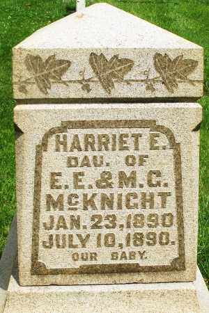 MCKNIGHT, HARRIET E. - Montgomery County, Ohio | HARRIET E. MCKNIGHT - Ohio Gravestone Photos