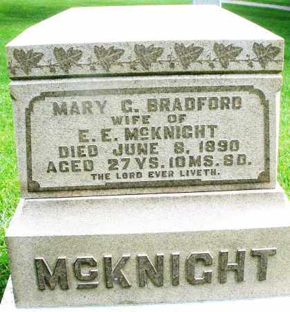 BRADFORD MCKNIGHT, MARY G. - Montgomery County, Ohio | MARY G. BRADFORD MCKNIGHT - Ohio Gravestone Photos