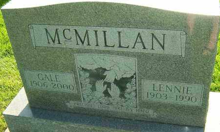 MCMILLAN, LENNIE - Montgomery County, Ohio | LENNIE MCMILLAN - Ohio Gravestone Photos