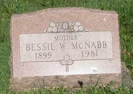 MCNABB, BESSIE W. - Montgomery County, Ohio | BESSIE W. MCNABB - Ohio Gravestone Photos