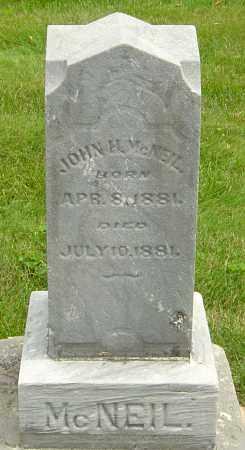 MCNEIL, JOHN H - Montgomery County, Ohio | JOHN H MCNEIL - Ohio Gravestone Photos