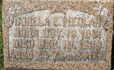 MEDLAR, CORELA E. - Montgomery County, Ohio | CORELA E. MEDLAR - Ohio Gravestone Photos