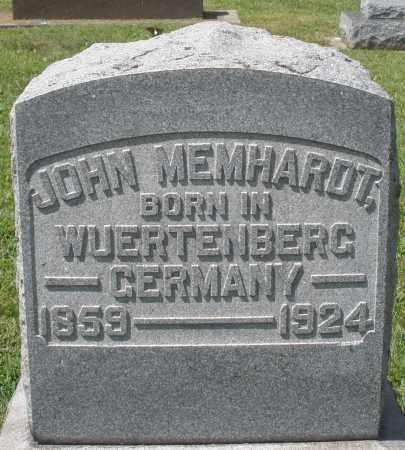 MEMHARDT, JOHN - Montgomery County, Ohio | JOHN MEMHARDT - Ohio Gravestone Photos