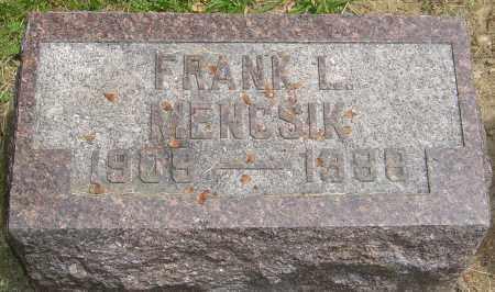 MENCSIK, FRANK L - Montgomery County, Ohio | FRANK L MENCSIK - Ohio Gravestone Photos