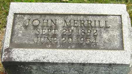 MERRILL, JOHN - Montgomery County, Ohio | JOHN MERRILL - Ohio Gravestone Photos