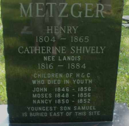 METZGER, NANCY - Montgomery County, Ohio | NANCY METZGER - Ohio Gravestone Photos
