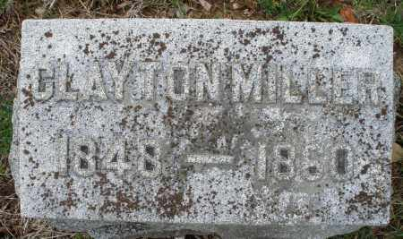 MILLER, CLAYTON - Montgomery County, Ohio | CLAYTON MILLER - Ohio Gravestone Photos