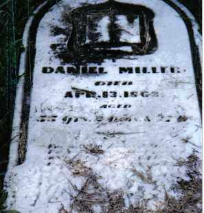 MILLER, DANIEL - Montgomery County, Ohio | DANIEL MILLER - Ohio Gravestone Photos