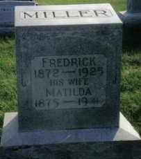 MILLER, FREDRICK - Montgomery County, Ohio | FREDRICK MILLER - Ohio Gravestone Photos
