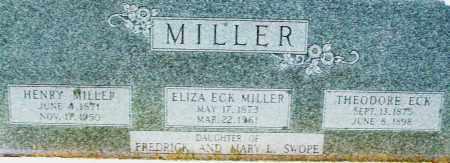 SWOPE MILLER/ECK, ELIZABETH - Montgomery County, Ohio | ELIZABETH SWOPE MILLER/ECK - Ohio Gravestone Photos