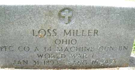 MILLER, LOSS - Montgomery County, Ohio | LOSS MILLER - Ohio Gravestone Photos