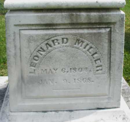 MILLER, LEONARD - Montgomery County, Ohio | LEONARD MILLER - Ohio Gravestone Photos