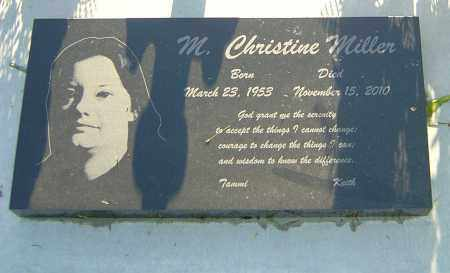MILLER, M CHRISTINE - Montgomery County, Ohio | M CHRISTINE MILLER - Ohio Gravestone Photos