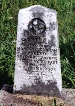 MILLER, MARTHA E. - Montgomery County, Ohio | MARTHA E. MILLER - Ohio Gravestone Photos