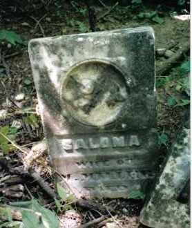 MILLER, SALOMA - Montgomery County, Ohio   SALOMA MILLER - Ohio Gravestone Photos
