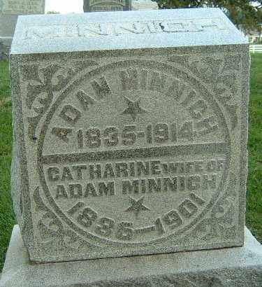 MINNICH, CATHARINE - Montgomery County, Ohio | CATHARINE MINNICH - Ohio Gravestone Photos