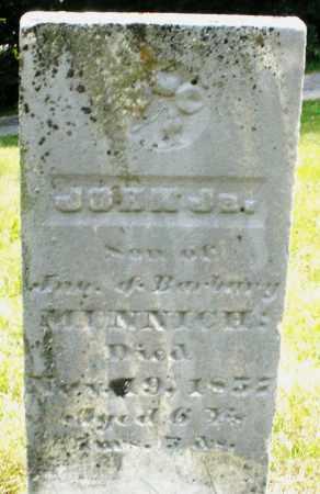 MINNICH, JOHN JR. - Montgomery County, Ohio | JOHN JR. MINNICH - Ohio Gravestone Photos
