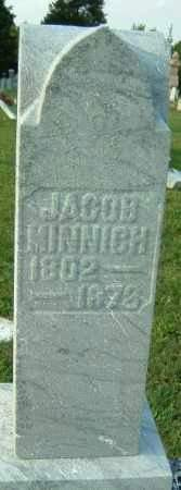 MINNICH, JACOB - Montgomery County, Ohio | JACOB MINNICH - Ohio Gravestone Photos
