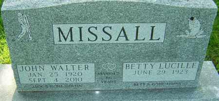 MISSALL, JOHN WALTER - Montgomery County, Ohio | JOHN WALTER MISSALL - Ohio Gravestone Photos