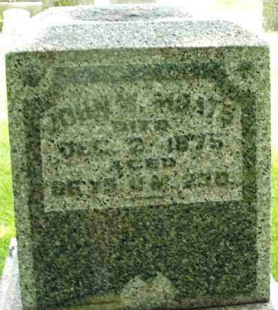 MOATS, JOHN W. - Montgomery County, Ohio | JOHN W. MOATS - Ohio Gravestone Photos