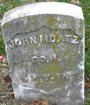 MOATZ, JOHN - Montgomery County, Ohio | JOHN MOATZ - Ohio Gravestone Photos