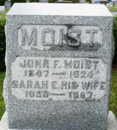 MOIST, SARAH E. - Montgomery County, Ohio | SARAH E. MOIST - Ohio Gravestone Photos